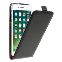 Split Leather Vertical Flip Stand Case iPhone 7 Plus - Zwart