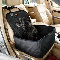 Hond autostoel cover huisdier zitje mand waterproof - Zwart