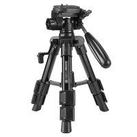 Zomei Q100 draagbare tripod statief aluminium DSLR camera reizen - Zwart