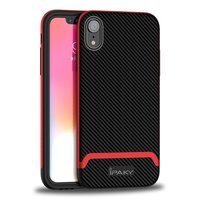 iPaky Bumblebee Hybride Polycarbonaat TPU iPhone XR Hoes - Rood