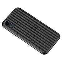 iPaky Waffle beschermend hoesje TPU Case iPhone XR - Zwart