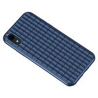 iPaky Waffle beschermend hoesje TPU Case iPhone XR - Blauw