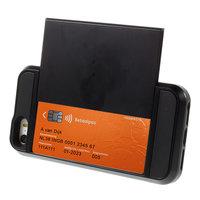 Secret Pasjeshouder hoesje iPhone 5 5s SE hardcase - Portemonnee - Wallet - Zwart