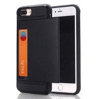 Verborgen Pasjeshouder iPhone 7 Plus 8 Plus zwart hardcase