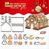 Koekjeshuis 18-delige uitsteekvormenset - Kerst Sinterklaas Schoencadeau