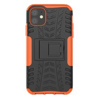 Hybride standaard case shockproof hoesje iPhone 11 - Oranje