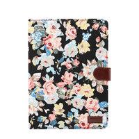 iPad Pro 11 inch 2018 Hoes Hardcase Bloemen Fabric Kleurrijk - Zwart