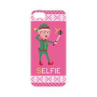 FLAVR kerst selfie elfie case TPU hoesje iPhone 5 5s SE 2016 - Roze