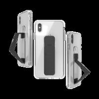 CLCKR grip case standaard valbestendig hoesje iPhone XS Max - Doorzichtig Zwart