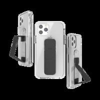CLCKR grip case standaard valbestendig hoesje iPhone 11 Pro - Doorzichtig Zwart