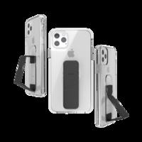 CLCKR grip case standaard valbestendig hoesje iPhone 11 Pro Max - Doorzichtig Zwart