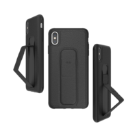CLCKR gripcase standaard valbestendig hoesje iPhone XS Max - Zwart