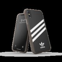 adidas Moulded case strepen beschermhoesje iPhone X XS - Zwart Wit