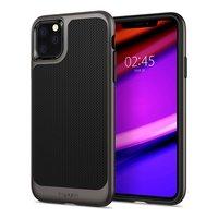 Spigen Neo Hybrid case beschermhoes metaal TPU iPhone 11 Pro Max - Zwart Grijs