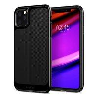 Spigen Neo Hybrid case beschermhoes metaal TPU iPhone 11 Pro Max - Zwart