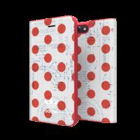 adidas bookcase stippen 70s hoesje iPhone 6 Plus 6s Plus 7 Plus 8 Plus - Rood Wit