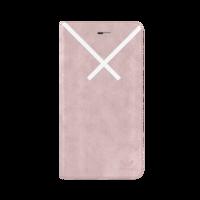 adidas bookcase suede simpel kruis iPhone 6 Plus 6s Plus 7 Plus 8 Plus - Lichtroze