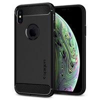 Spigen Armor case beschermhoesje schokbestendig iPhone X XS - Zwart