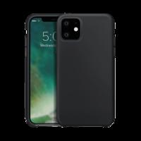 Xqisit silicone cover beschermhoes iPhone 11 - Zwart