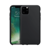 Xqisit silicone cover beschermhoes iPhone 11 Pro Max - Zwart