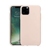Xqisit silicone cover beschermhoes iPhone 11 Pro Max - Lichtroze