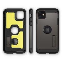 Spigen Tough Armor case bescherming iPhone 11 hoesje - grijs