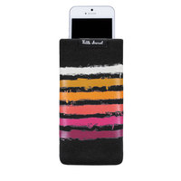 Universele Gebreide Sok Insteekhoesje Pouch Telefoon MP3-speler - Zwart Diverse Kleuren