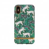 Richmond & Finch luipaard panter wild hoes beschermcase iPhone X XS - Goud Groen Zwart Wit