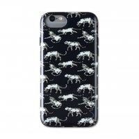 Wilma glow in the dark luipaard case panter nacht iPhone 6 6s 7 8 SE 2020 - Zwart