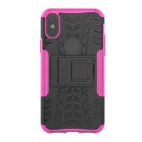 Shockproof hoesje bescherming hoesje iPhone X XS case - Roze goud