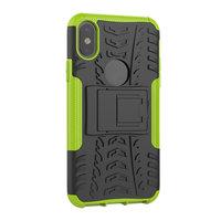 Shockproof bescherming hoesje iPhone X XS case - Groen