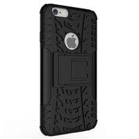 Shockproof bescherming hoesje iPhone 6 6s case - Zwart