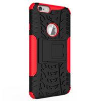 Shockproof bescherming hoesje iPhone 6 6s case - Rood