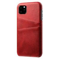 Lederen Portemonnee Wallet iPhone 11 Pro Max hoesje - Rood Bescherming