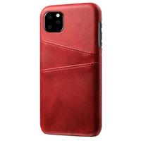 Lederen Portemonnee Wallet iPhone 11 Pro hoesje - Rood Bescherming