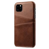 Lederen Portemonnee Wallet iPhone 11 Pro hoesje - Bruin Bescherming