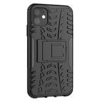 Shockproof bescherming hoesje iPhone 11 case - Zwart