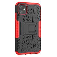 Shockproof bescherming hoesje iPhone 11 case - Rood