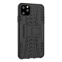 Shockproof bescherming hoesje iPhone 11 Pro Max case - Zwart