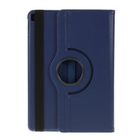 Litchi Textuur Lederen iPad 10.2 inch case met cover - Donkerblauw Bescherming Standaard