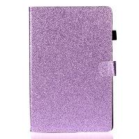 Shiny Flash Glitter Case Hoes van PU Leer voor iPad 10.2 inch - Paars