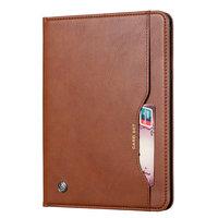 Wallet Portemonnee Hoes Case met Penhouder Kunstleer voor iPad 10.2 inch - Bruin