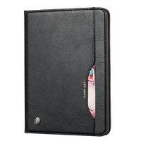 Wallet Portemonnee Hoes Case met Penhouder Kunstleer voor iPad 10.2 inch - Zwart