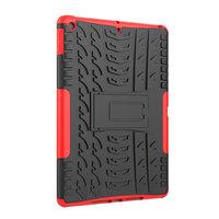 Bandprofiel hoes grip kickstand TPU kunststof iPad 10.2 inch - Rood