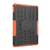 Bandprofiel hoes grip kickstand TPU kunststof iPad 10.2 inch - Oranje