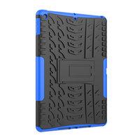 Bandprofiel hoes grip kickstand TPU kunststof iPad 10.2 inch - Blauw