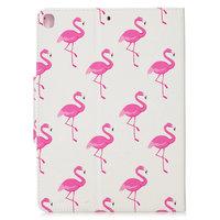 Wallet Portemonnee Hoes Case Kunstleer Natuur Vogel Flamingo voor iPad 10.2 - Roze