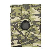 Camouflage Design 360 Graden Rotatie Standaard Hoes Case Kunstleer voor iPad 10.2 inch - Lichtgroen