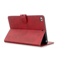 Wallet Portemonnee Hoes Case Kunstleer met Standaard voor iPad mini 1 2 3 4 5 - 7.9 inch - Rood