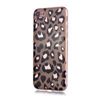 Luipaardmotief iPhone 7 8 SE 2020 TPU hoesje - Holografisch Glimmend